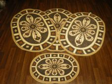 ROMANY GYPSY WASHABLES X CROWN DBY FULL SET OF 4  MATS/RUGS NON SLIP TRAVELERS